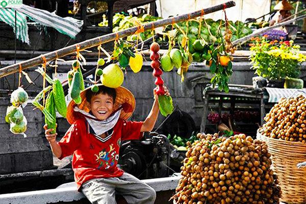 Chợ nổi Cà Mau với những hình ảnh thật bình dị