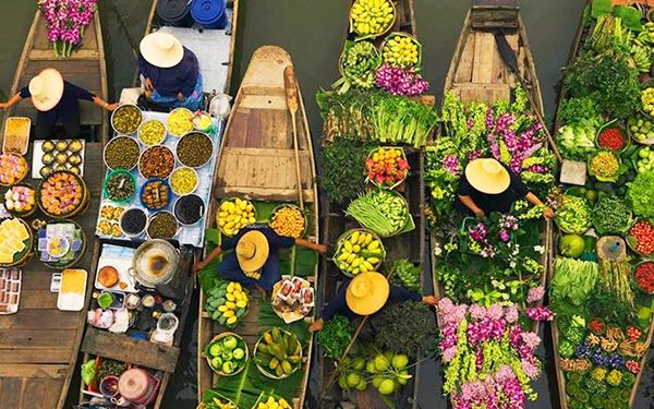 Ghé thăm chợ nổi Cà Mau – Nét đặc trưng sông nước đầy thú vị