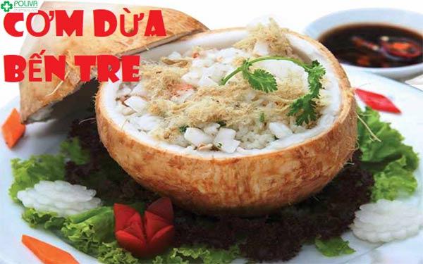 Nét ẩm thực độc đáo trong món cơm dừa Bến Tre