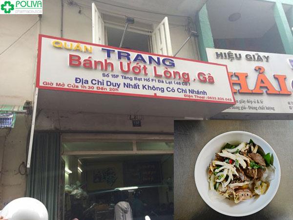 Bánh ướt lòng gà Trang nổi tiếng gần xa