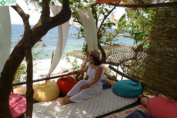 Từng góc nghỉ ngơi ở Homestay Athena Camping đều vô cùng đẹp và mới lạ.