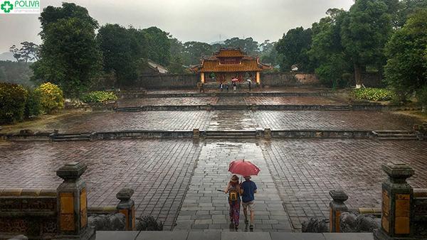 Lăng Minh Mạng có kiến trúc khá độc đáo.