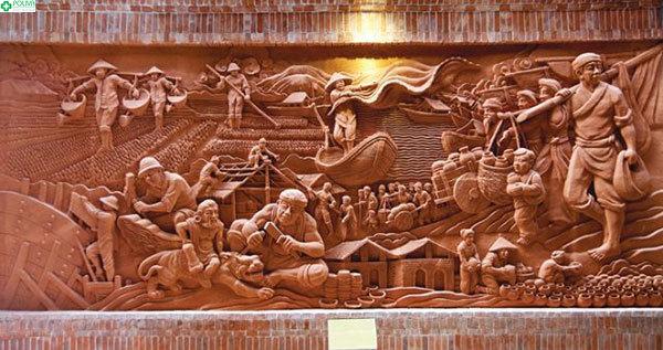 Gốm Thanh Hà mang màu nâu đỏ đặc trưng của phù sa sông Thu Bồn