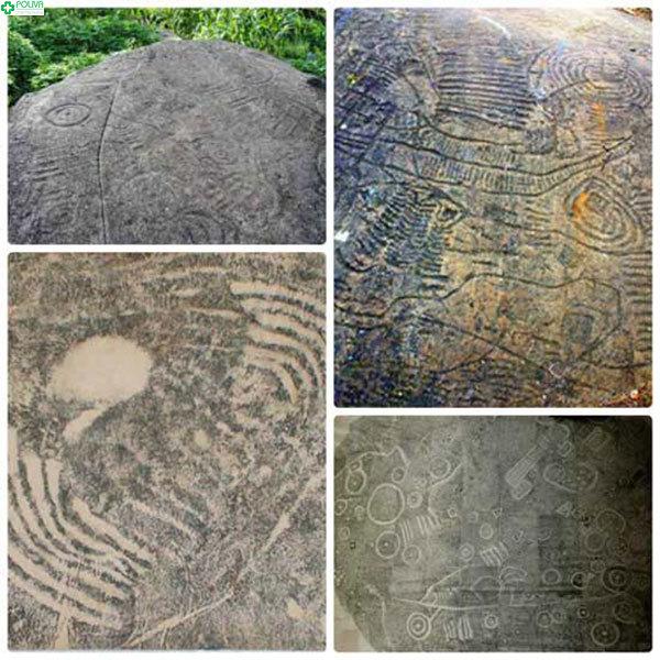 Những nét văn tự kỳ lạ trên các phiến đá