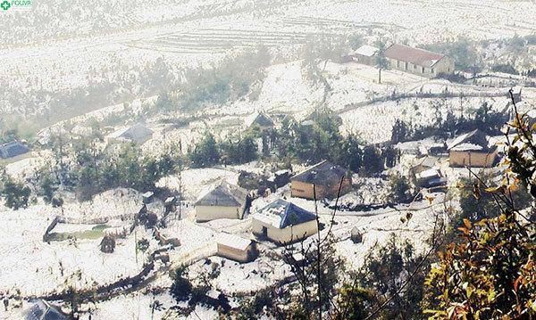 Mùa đông lạnh giá, tuyết phủ trắng trời Sapa