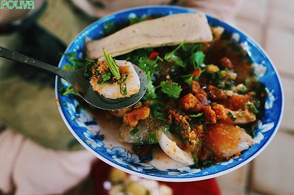Bánh bèo ở đây mang đúng hương vị xứ Huế.