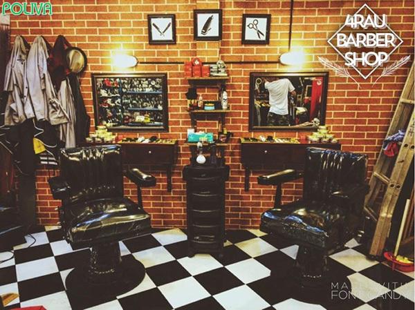 Tiệm cắt tóc Barber Shop đã có từ rất lâu đời ở nơi đây.