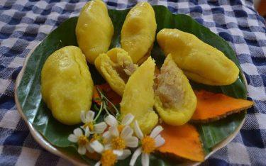 Bánh nghệ dân dã, hương sắc đúng chất quê lúa Thái Bình