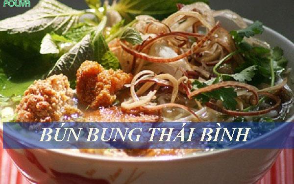 Bún bung ở Thái Bình có màu sắc và hương vị riêng
