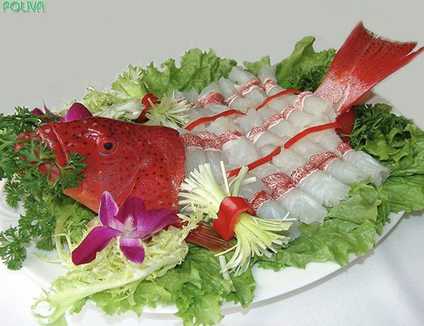 Sashimi cá mú tuyệt ngon khiến bạn khó lòng có thể chối từ.