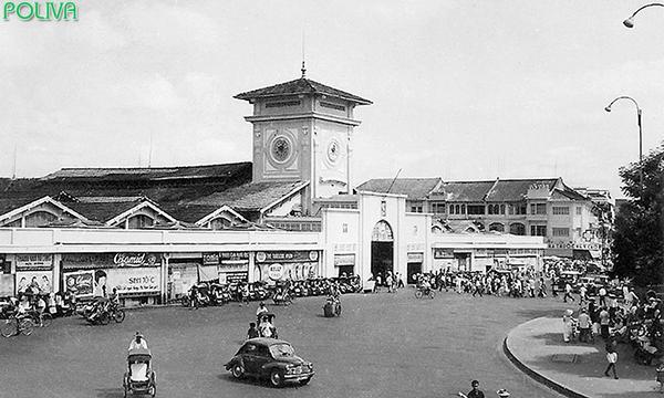Chợ Bến Thành cũ có kiến trúc khá độc đáo.