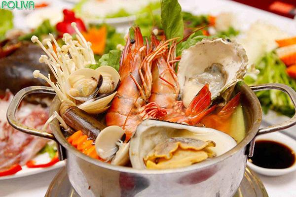 Đừng quên thưởng thức hải sản tuyệt ngon đảo Hòn Ông.