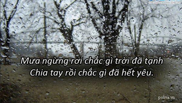 Ngắm mưa nhớ người yêu cũ là chuyện thường tình