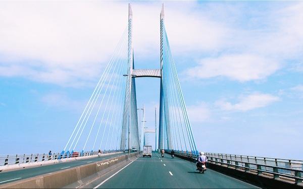 Cầu Mỹ Thuận đẹp hiện đại là huyết mạch của tỉnh Tiền Giang
