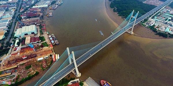 Hình ảnh Cầu Phú Mỹ từ trên cao