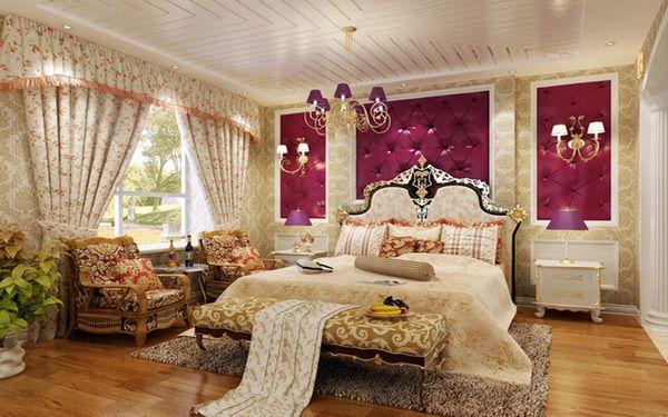 Thi công thiết kế nội thất phòng ngủ phong cách hoàng gia quý tộc
