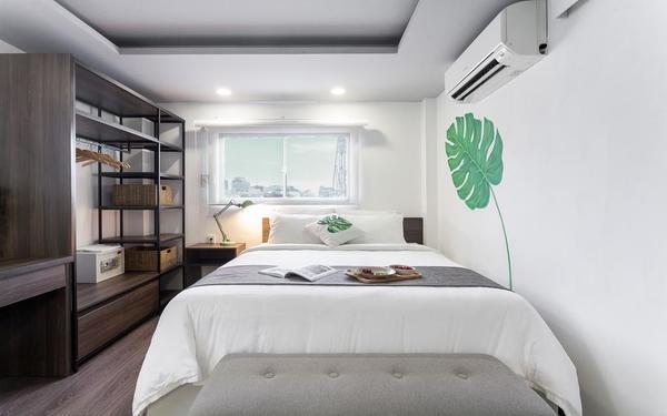 Phong cách thiết kế hiện đại tối giản của phòng nghỉ khách sạn La Regatta Boutique Residences
