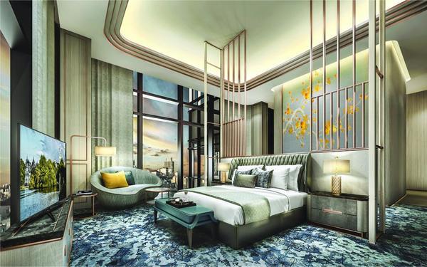 Phòng ngủ cao cấp đẹp như tranh của khách sạn Vinpearl Luxury Landmark 81