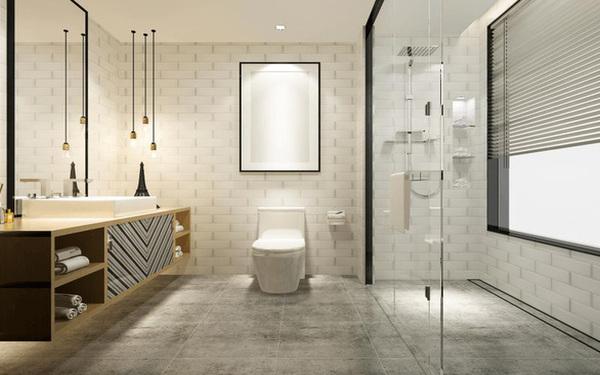 Tủ lắp nổi trên tường mang vẻ đẹp hiện đại cho phòng tắm