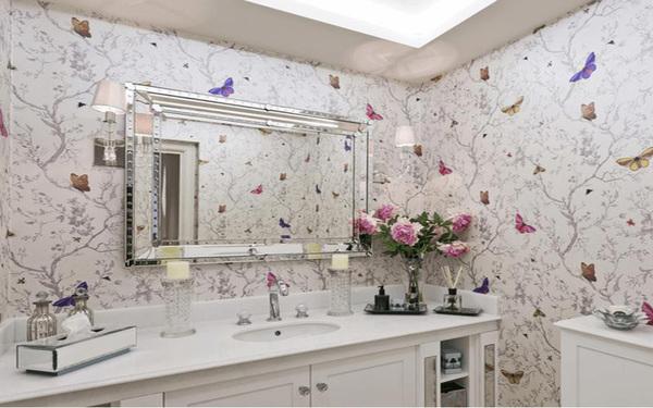Xu hướng thiết kế phòng tắm bằng giấy dán tường đẹp mắt