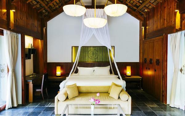 Nội thất phòng ngủ thiết kế độc đáo của khách sạn An Lam Retreats Saigon River