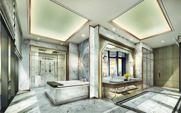 Mẫu phòng tắm cao cấp sang trọng của khách sạn Vinpearl Luxury Landmark 81