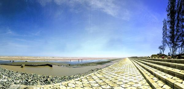Cảnh quan của bãi biển Ba Động