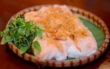 Xiêu lòng với bánh cuốn tôm Thái Bìnhvừa dẻo mịn lại thơm