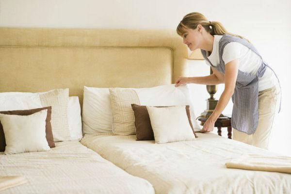 công việc của bộ phận buồng phòng: Phòng luôn đạt chuẩn tiếu chí trước khi khách tới