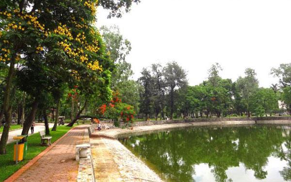 Hình ảnh thơ mộng trong công viên