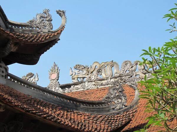 Kiến trúc độc đáo của mái đền