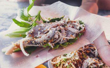 Muốn thưởng thức gỏi cá bỗng sông Lô ngon phải về Tuyên Quang