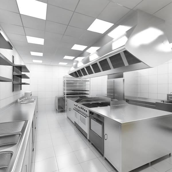 Hệ thống ánh sáng cần đầy đủ để đầu bếp dễ dàng làm việc