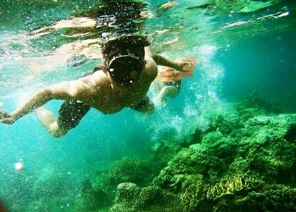 """Đừng quên """"lặn"""" dưới hòn đảo để khám phá về hòn sẹo nhé"""