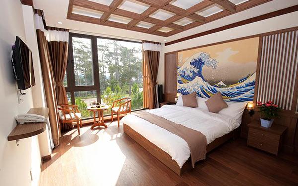 Phòng ngủ khách sạn 3 sao hướng đến thiên nhiên