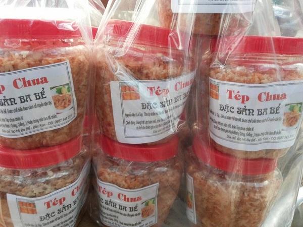 Có thể mua mắm tép chua Ba Bể dưới hình thức đóng hộp làm quà tặng người thân