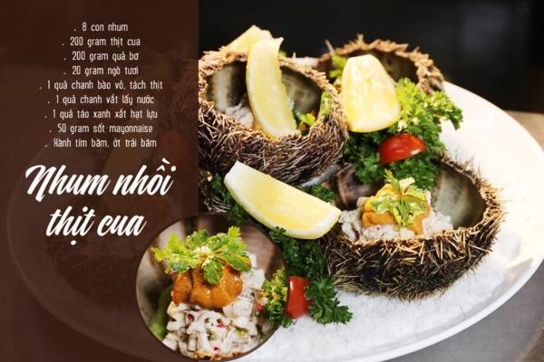 Nhum nhồi thịt cua là món ăn rất đáng để thưởng thức