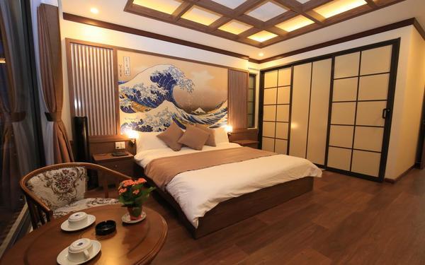 Lối kiến trúc Nhật truyền thống trong phòng ngủ khách sạn Khải Ngọc