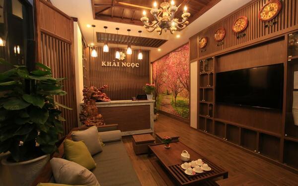 Thiết kế sảnh của khách sạn Khải Ngọc mang phong cách Nhật Bản độc đáo