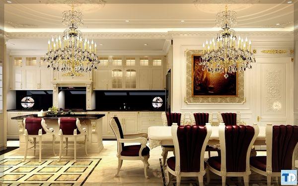 Thiết kế nội thất đặc sắc của một góc phòng khách sạn tân cổ điển