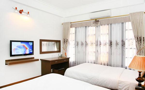 Không gian rộng rãi tiện nghi trong khách sạn