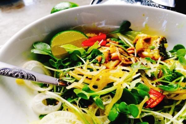 Phở sắn Quảng Nam nấu với cá lóc đồng