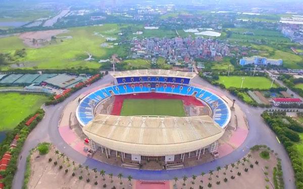 Hình ảnh sân vận động Mỹ Đình nhìn từ trên cao