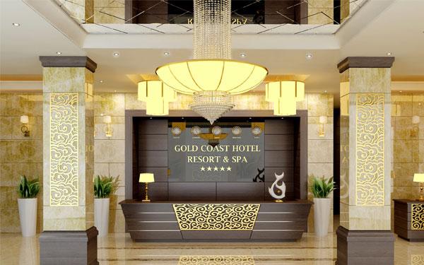 Sảnh khách sạn thể hiện sự sang trọng