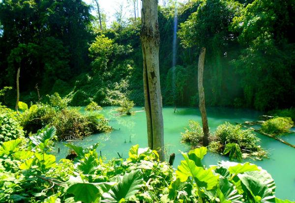 Một góc hồ nước tại Thác Gia Long
