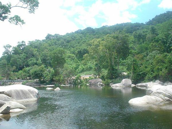 Thác nằm trong khuôn viên rừng quốc gia Chư Yang Sin