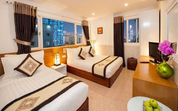 Phòng nghỉ đầy đủ tiện nghi tại Sài Gòn
