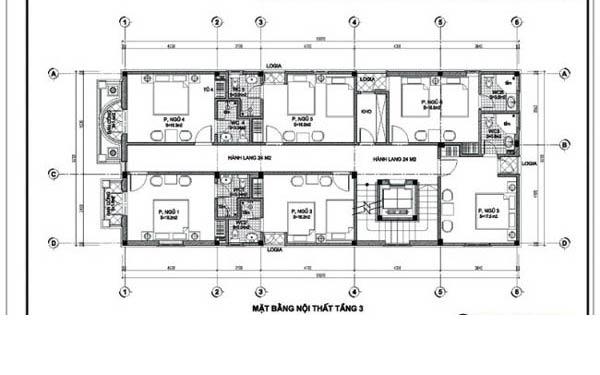 Bản vẽ thiết kế chi tiết tầng 2