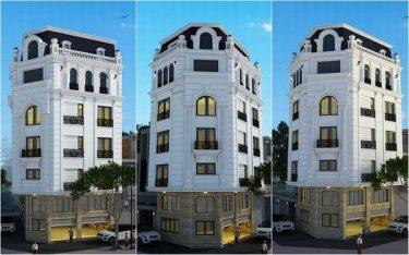 Xu hướng thiết kế nhà nghỉ 6 tầng theo phong cách cổ điển Pháp