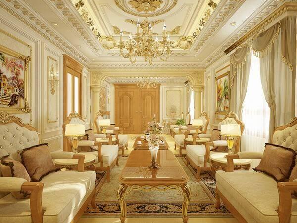 Nội thất được thiết kế theo lối cổ điển Pháp sang trọng